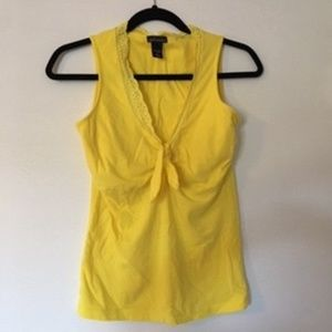 Victoria's Secret fitted yellow Tank Top, v-neck